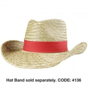 Straw Cowboy Hat branded with your company logo.