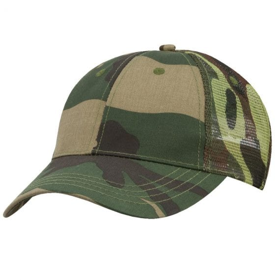 Camouflage Truckers cap a great branded cap.
